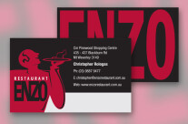 Enzo Restaurant Business Card